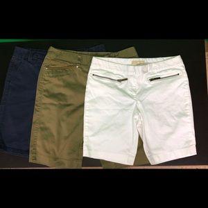 BUNDLE! 3 Bermuda shorts! MK Jones NY Gap
